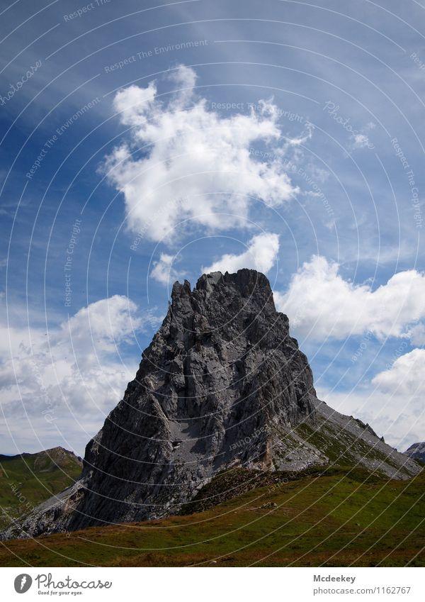 Pseudovulkan Himmel Natur Pflanze blau grün Sommer weiß Landschaft Wolken schwarz Berge u. Gebirge Umwelt Gras natürlich grau Stein