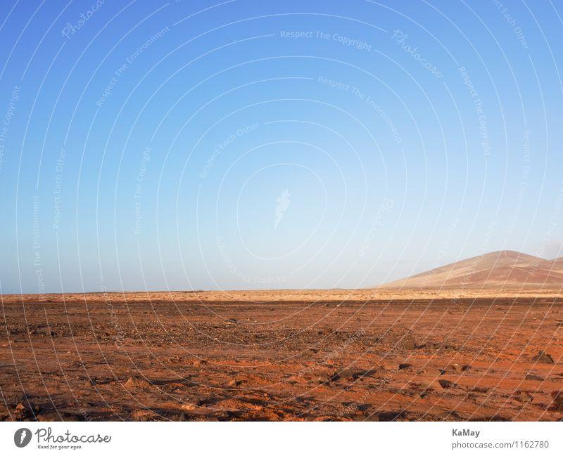 Irgendetwas fehlt hier...oder doch perfekt? Landschaft Erde Wolkenloser Himmel Schönes Wetter Dürre Berge u. Gebirge Wüste außergewöhnlich exotisch