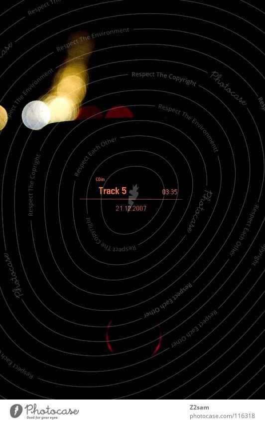 TRACK 5 Lied fahren Verkehr Autobahn Ferien & Urlaub & Reisen Uhr passieren schwarz dunkel Lichterkette Konzert Musik track Radio autoradio Straße PKW Abend