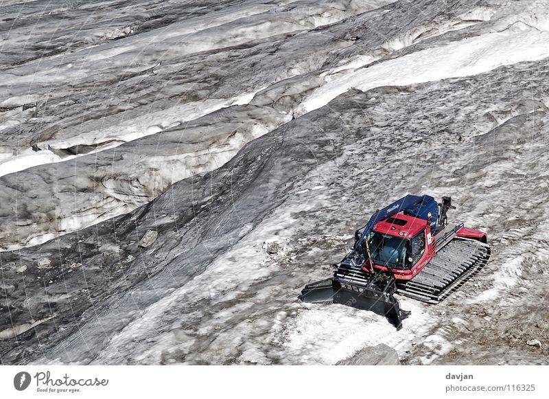 Gletscherraupe weiß Sommer Schnee Berge u. Gebirge grau Eis Schweiz Berghang