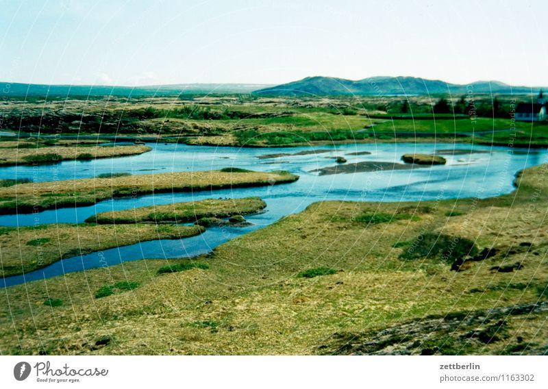 Island (20) Insel Ferne Ebene Skandinavien Ferien & Urlaub & Reisen Reisefotografie Tourismus Norden nordisch Geysir Wasser Wasseroberfläche See Gewässer Sumpf