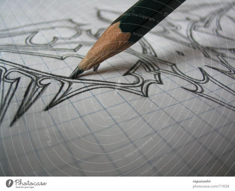 Tribal Bleistift Kunst kariert Papier Blatt Freizeit & Hobby zeichnen streichen