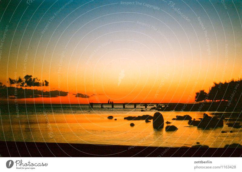 Abendhimmel again Himmel Himmel (Jenseits) Abenddämmerung Nachthimmel Dämmerung Sonnenuntergang Farbe Farbenspiel Meer See Wasser Horizont Ferne