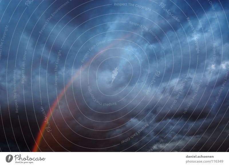 viel Glück 2008 !!!!! Regenbogen Wolken zyan Abenddämmerung Hintergrundbild Licht dunkel bedrohlich Sturm gefährlich Sonnenstrahlen Meer