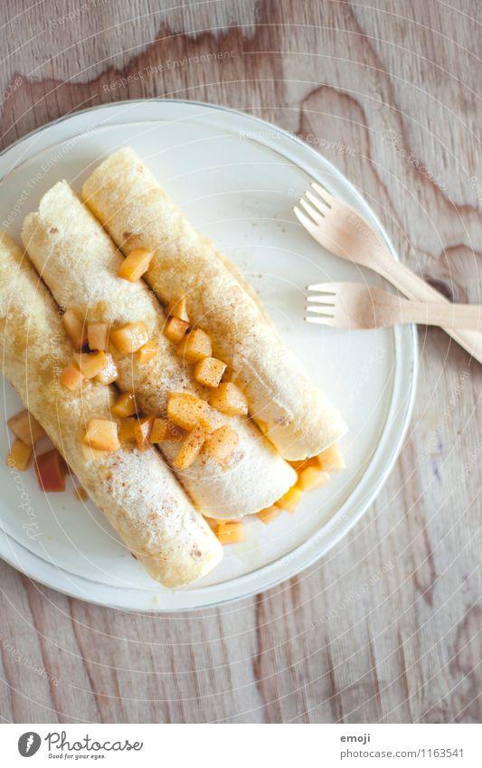 Apfelfajitas Frucht Ernährung süß lecker Süßwaren Dessert
