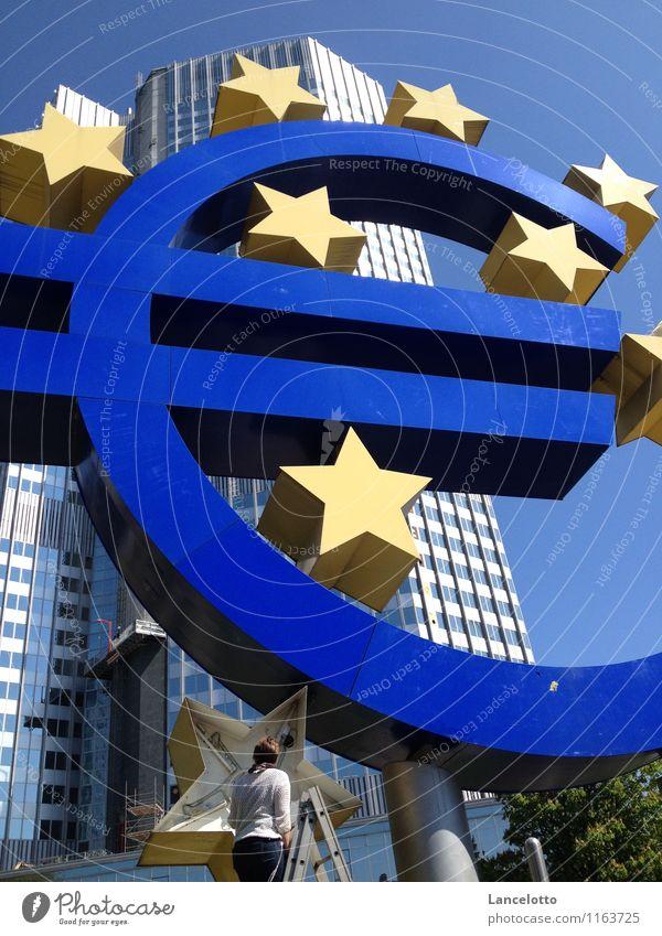 Der Euro muss repariert werden Zeichen Geld Zukunftsangst sparen Krise Eurozeichen