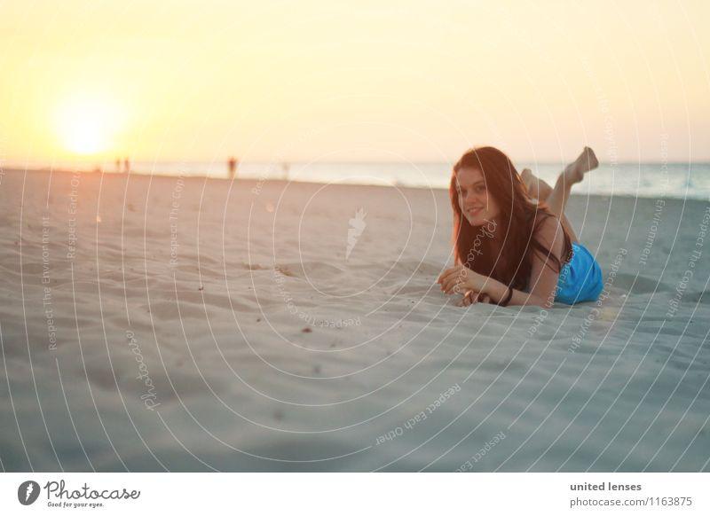 FF# Strandblick Kunst ästhetisch Zufriedenheit Mode Model Stranddüne Strandspaziergang Strandbar Strandleben Frau liegen Erholung Ferien & Urlaub & Reisen