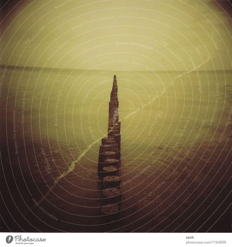 500 | Auslösungserscheinungen Sommerurlaub Strand Meer Wellen Natur Wasser Himmel Horizont Küste Ostsee Schwimmen & Baden Erholung Surrealismus träumen analog