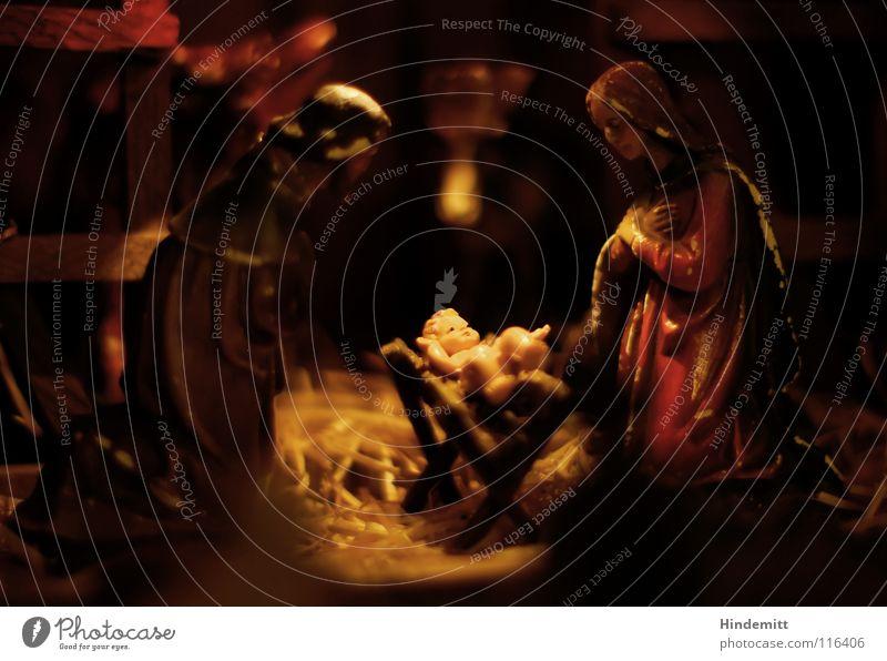 Aus aktuellem Anlass ... 3 König Weisheit Morgenland Maria Kind Jesus Christus Weihnachtskrippe neugeboren Baby Gebet Schwärmerei Stroh Stall dunkel