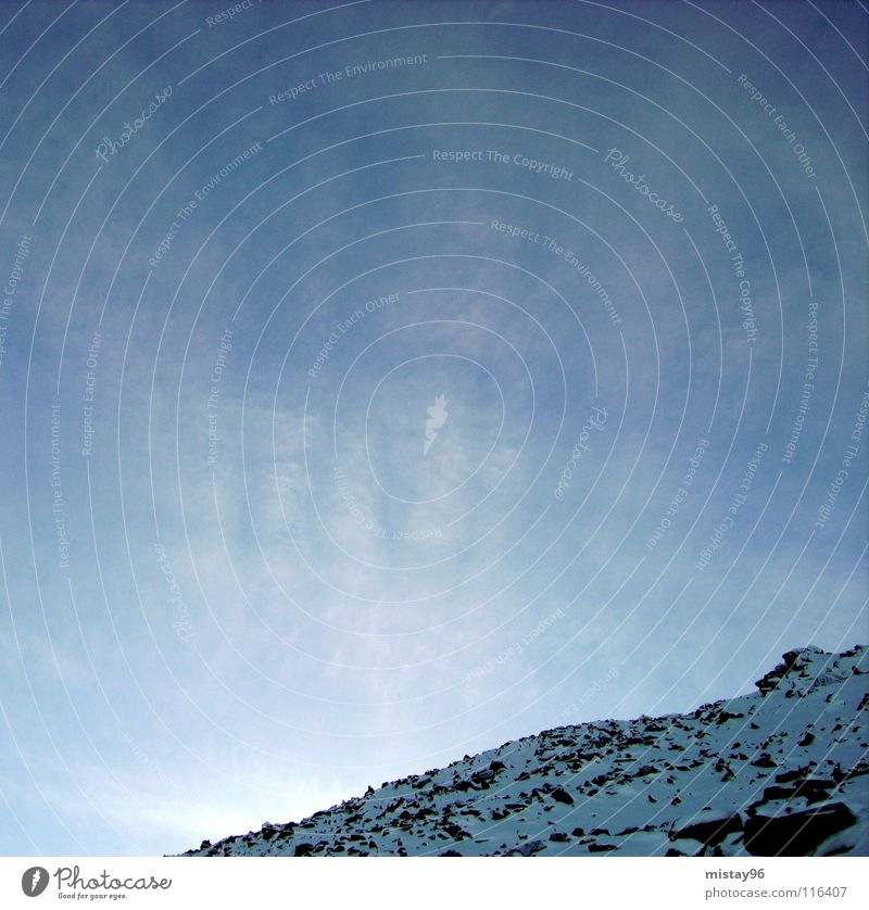 mountain Himmel ruhig Winter Freude Frieden Berge u. Gebirge sky blue blau Sonne Beleuchtung happiness Natur