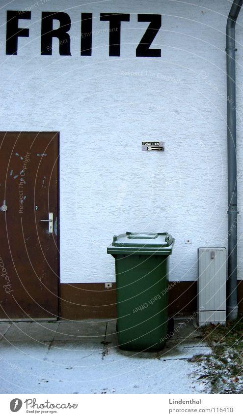 FRITZ grün braun Tür Fass Dachrinne