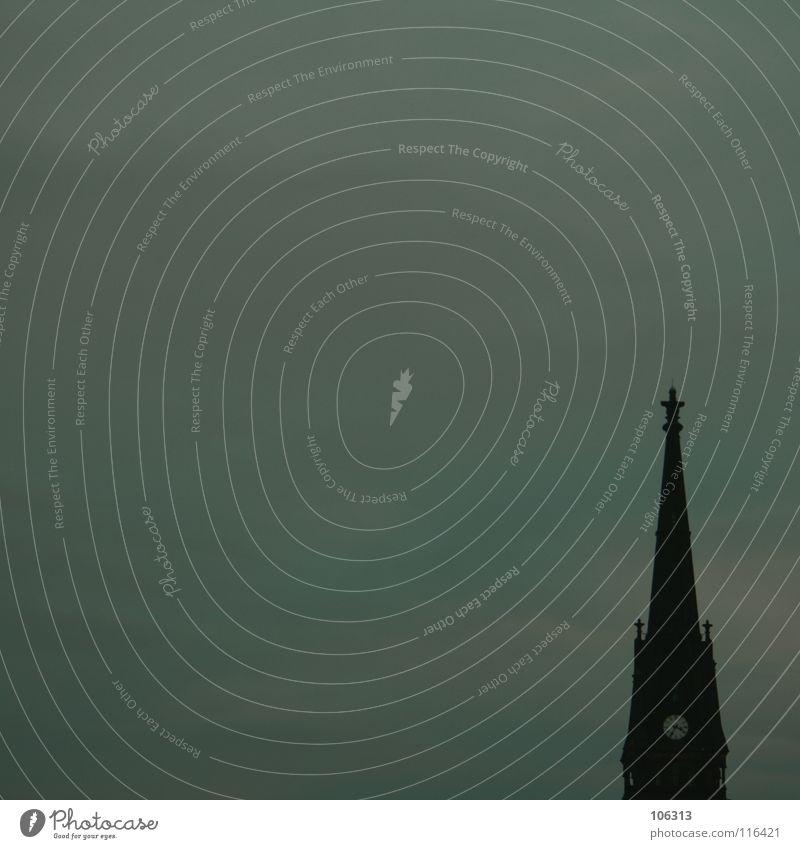 MINIMAL_CORNER: DARKSIDE alt Himmel Wolken Ferne Stein Gebäude klein groß hoch Ecke gefährlich Aussicht Dach Frieden Turm