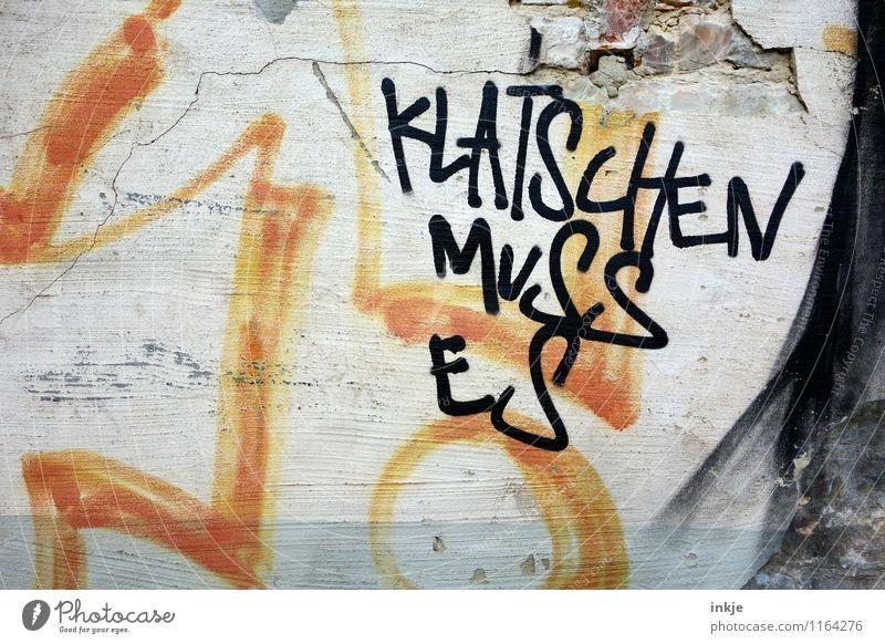 *BÄM* Wand Graffiti Gefühle Mauer Lifestyle Fassade Schriftzeichen Beton Wut Gewalt Konflikt & Streit Gesellschaft (Soziologie) Aggression Zerstörung