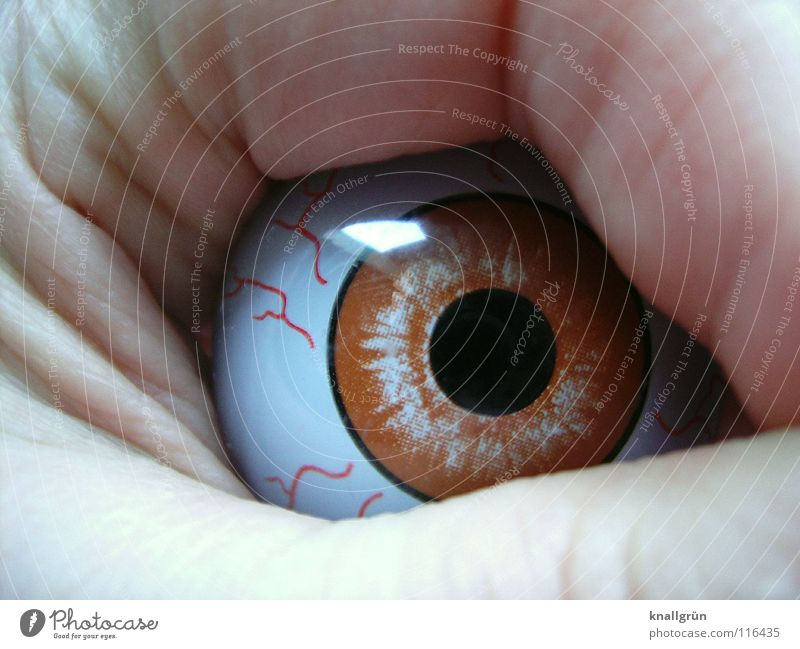 Seitenblick Auge Wut obskur Seite Ärger Pupille Seitenblick