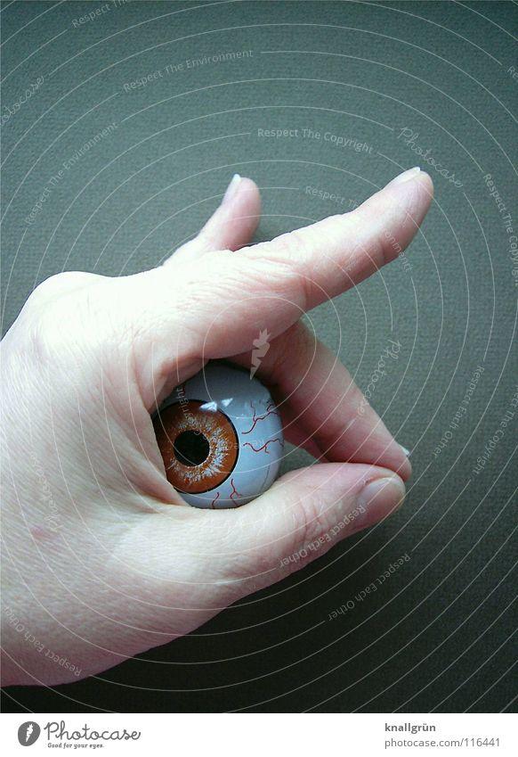 Wundertier Hand Auge Angst obskur Panik Pupille