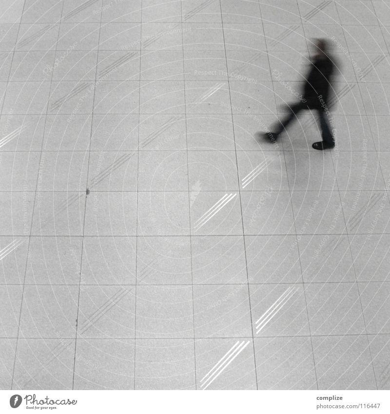 Schwarzer Mann fliegen Geschäftsreise Eile Geschwindigkeit Gebäude Flugzeug Ferien & Urlaub & Reisen Städtereise Hotel Rollkragenpullover Ankunft Einsamkeit