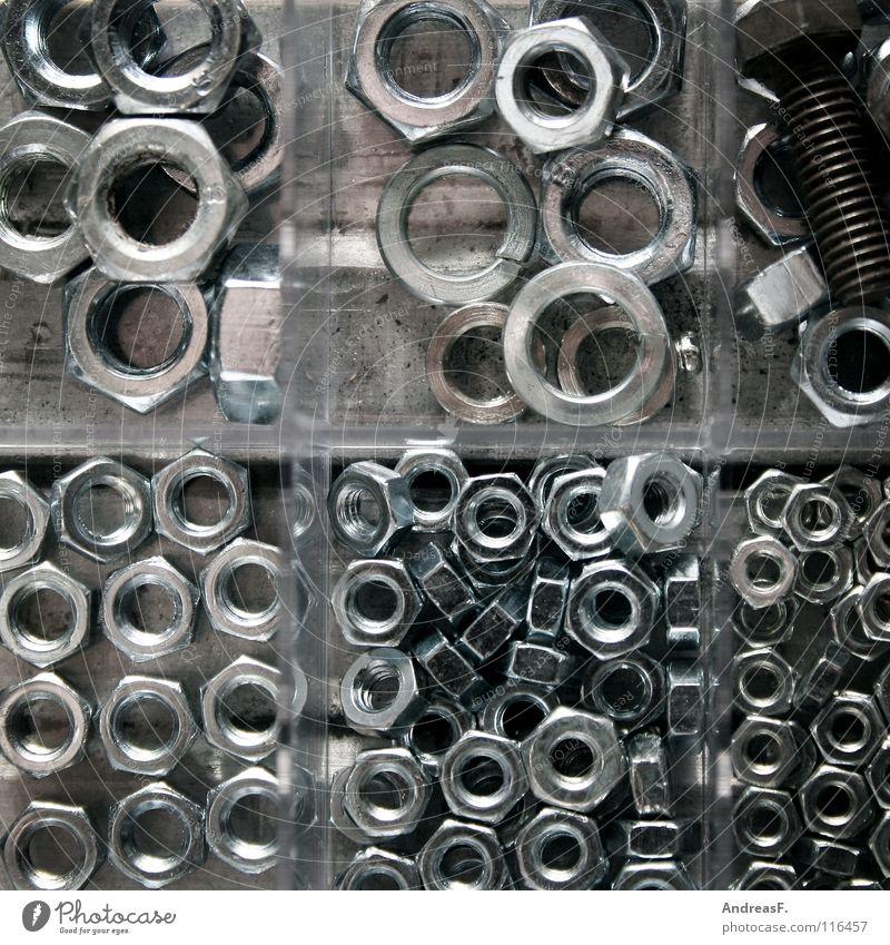 Tool Time II Metall Freizeit & Hobby Ordnung mehrere Industrie viele Handwerk Werkzeug Eisen 6 Handwerker Schraube sortieren Basteln zählen