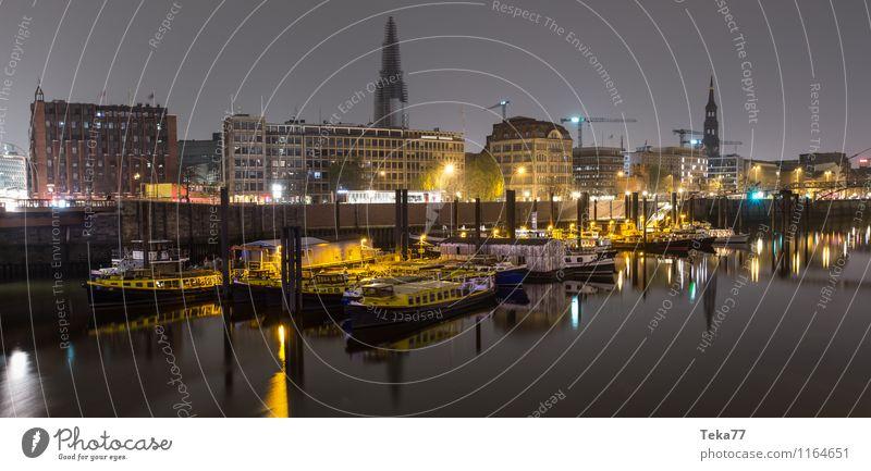 Hamburg Hafen NACHTS IIII Ferien & Urlaub & Reisen Stadt Sommer ästhetisch Denkmal Wahrzeichen Sehenswürdigkeit Hafenstadt