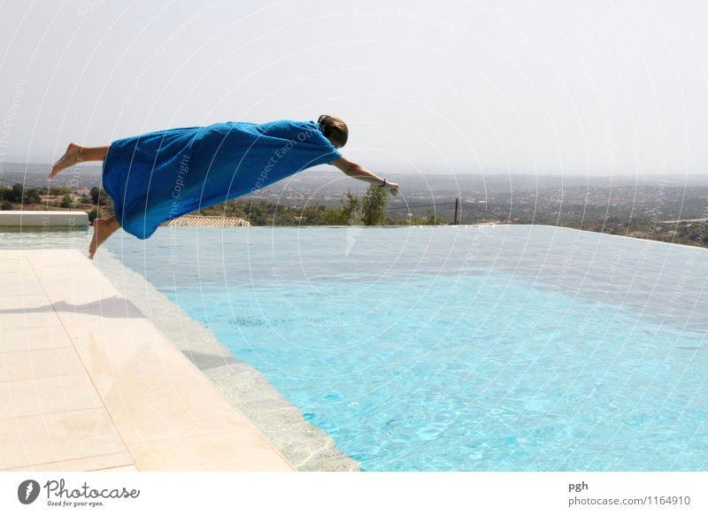 Spiderwoman Schwimmen & Baden tauchen feminin Junge Frau Jugendliche 13-18 Jahre Kind Sommer Bewegung elegant Erholung Ferien & Urlaub & Reisen Freude schön