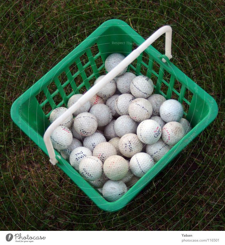 Basketgolf grün Sport Spielen Gras Park Rasen Sportrasen Golf Statue Sammlung England Korb Ballsport Golfball