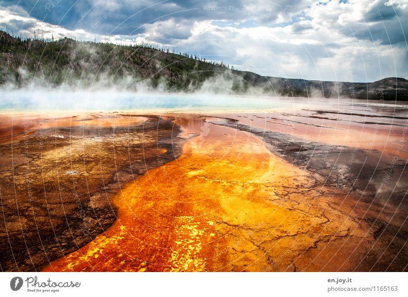 Drama Natur Ferien & Urlaub & Reisen Sommer Landschaft Wald außergewöhnlich orange Tourismus Energie fantastisch einzigartig Abenteuer Hügel USA heiß