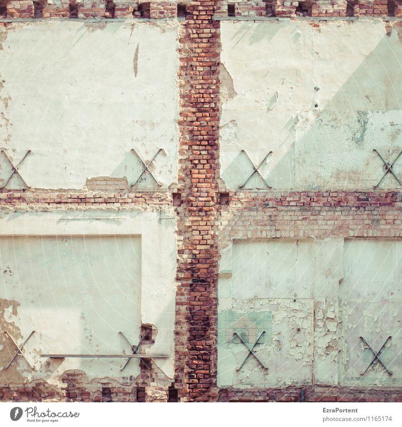 x² Stadt weiß Haus Wand Architektur Gebäude Mauer grau Stein Linie braun Fassade Wohnung Design Häusliches Leben dreckig