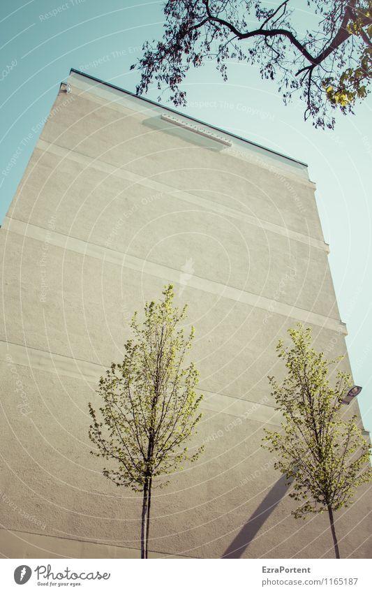 Block Himmel blau Pflanze grün Sommer Baum Haus Umwelt Wand Frühling Architektur Gebäude Mauer grau Stein Linie