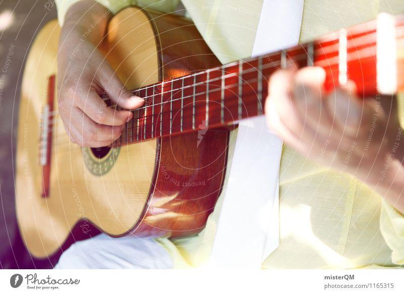 Ein schöner Tag V Kunst ästhetisch Gitarre Gitarrenspieler Gitarre spielen Gitarrenhals Gitarrensaite Musiker Musikinstrument Musikunterricht Farbfoto