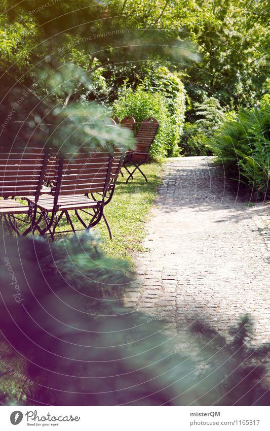 Ein schöner Tag IV Natur grün Wiese Wege & Pfade Garten Park Idylle ästhetisch Stuhl abgelegen