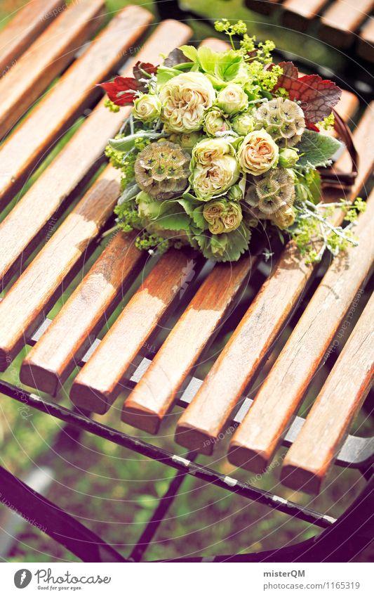 Ein schöner Tag II Kunst Zufriedenheit ästhetisch Hochzeit Stuhl Blumenstrauß Zeremonie Hochzeitszeremonie Hochzeitsgesellschaft