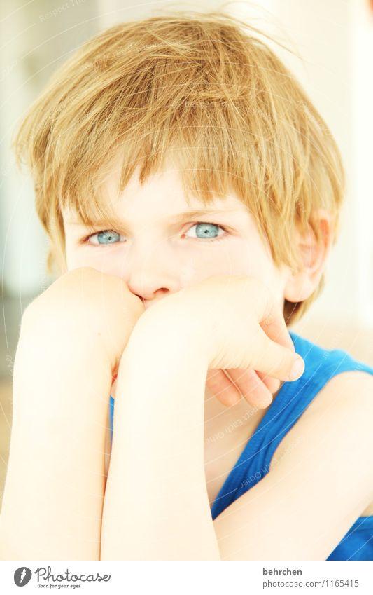 struwwellasse Junge Familie & Verwandtschaft Kindheit Haut Kopf Haare & Frisuren Gesicht Auge Ohr Nase Arme Hand Finger 3-8 Jahre blond langhaarig beobachten
