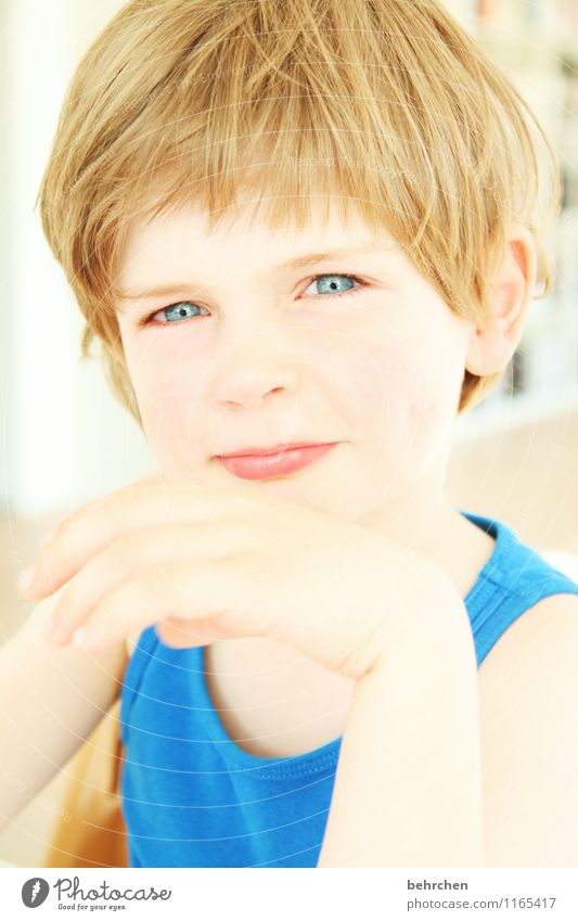 mehr als worte... Kind schön Hand Freude Gesicht Auge Liebe Junge Glück Familie & Verwandtschaft Haare & Frisuren Kopf wild Zufriedenheit Körper blond