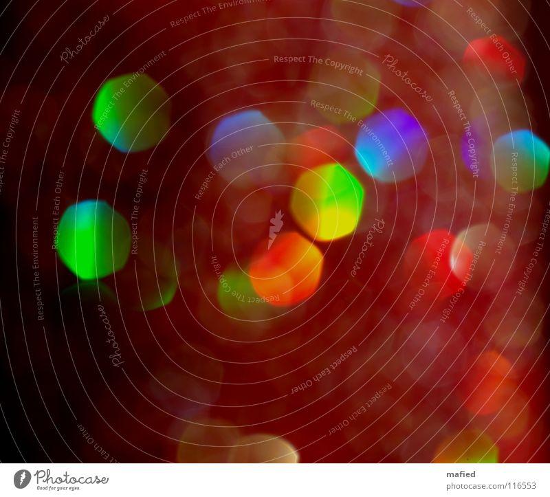 noch'n glitzerbild glänzend Regenbogen mehrfarbig rot grün gelb Licht Unschärfe Farbe Reflexion & Spiegelung Punkt reflektion blau Schatten