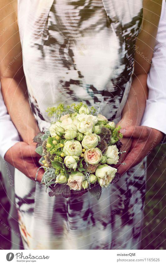 Blumenhände II Kunst ästhetisch Hochzeit Hochzeitspaar Hochzeitstag (Jahrestag) Hochzeitszeremonie Hochzeitsgesellschaft Paar Partnerschaft Blumenstrauß Hand
