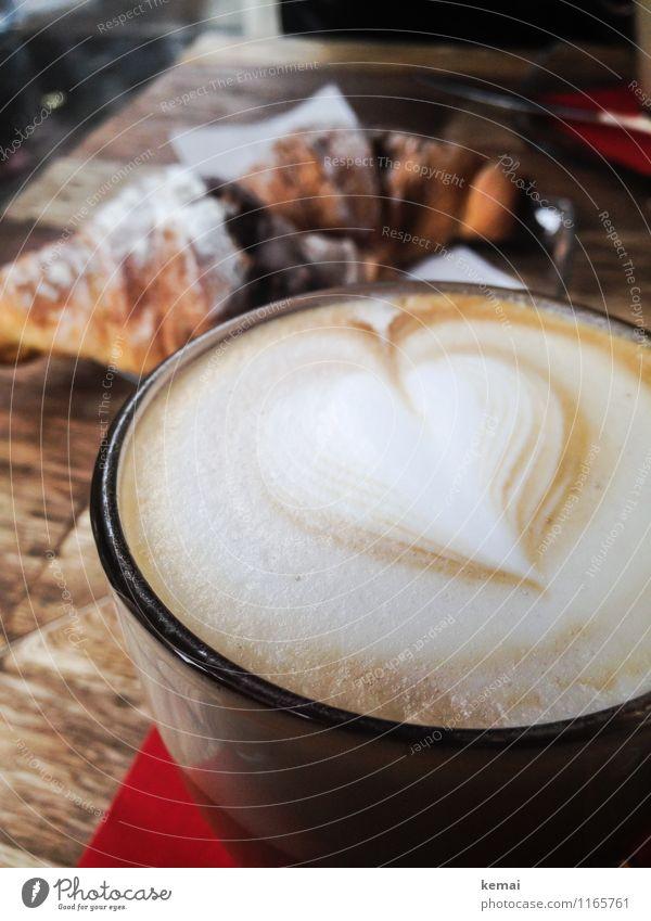 When in Rome: Kaffeeliebe Lebensmittel Teigwaren Backwaren Croissant Süßwaren Ernährung Frühstück Slowfood Getränk Heißgetränk Latte Macchiato Cappuccino Glas
