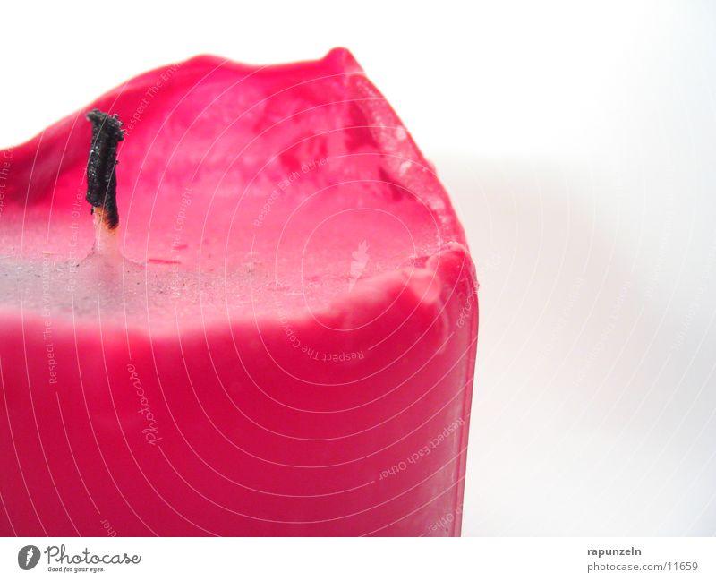Kerze Steril #2 rot Häusliches Leben brennen Wachs Kerzendocht