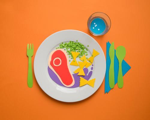 Bunter Teller Gesunde Ernährung lustig Essen Lebensmittel genießen Kreativität Getränk Papier Küche Gemüse Gastronomie Wohlgefühl Bioprodukte Restaurant