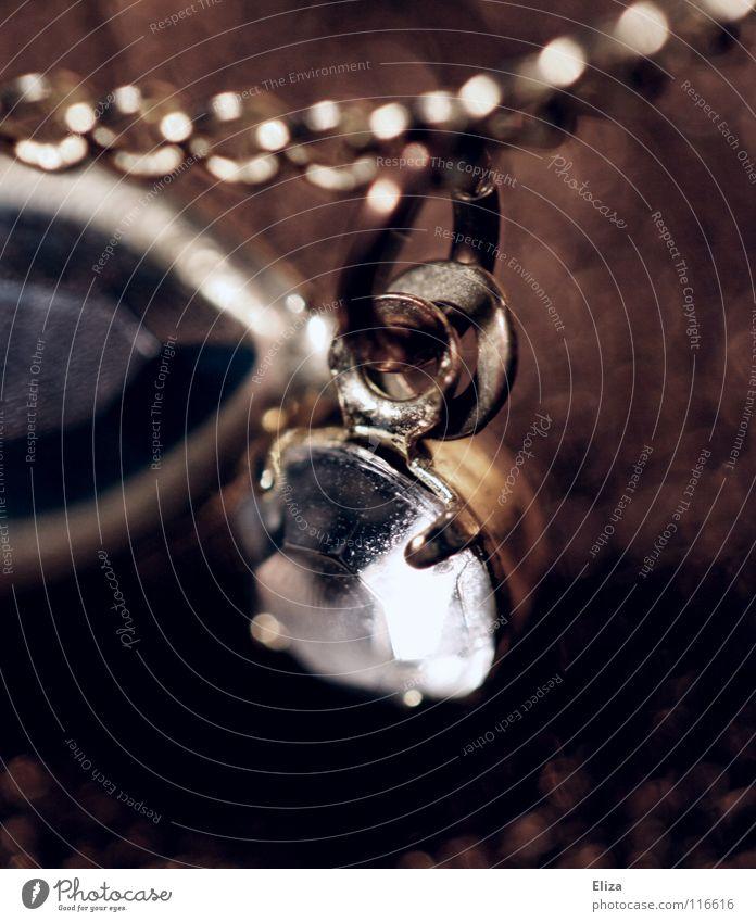 Bijou schön alt Lampe Stein braun glänzend Glas elegant gold Reichtum Schmuck Kette edel schick Glamour Diamant