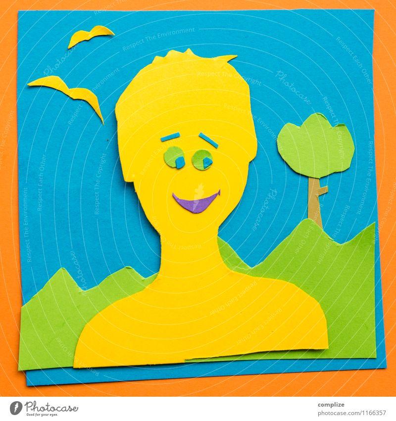 Neues Profilbild Mensch Jugendliche Mann Junger Mann 18-30 Jahre Erwachsene lustig Glück lachen Kopf Kunst maskulin Design Körper Kreativität Fotografie