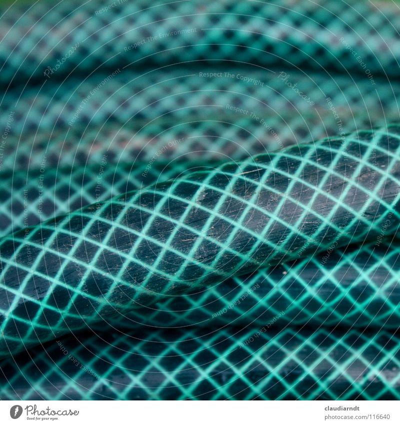 Gumminatter Kreuzotter Schlauch Gartenschlauch kariert Muster abstrakt wickeln aufgewickelt Rolle überlagert aufeinander durcheinander rund Gartenarbeit