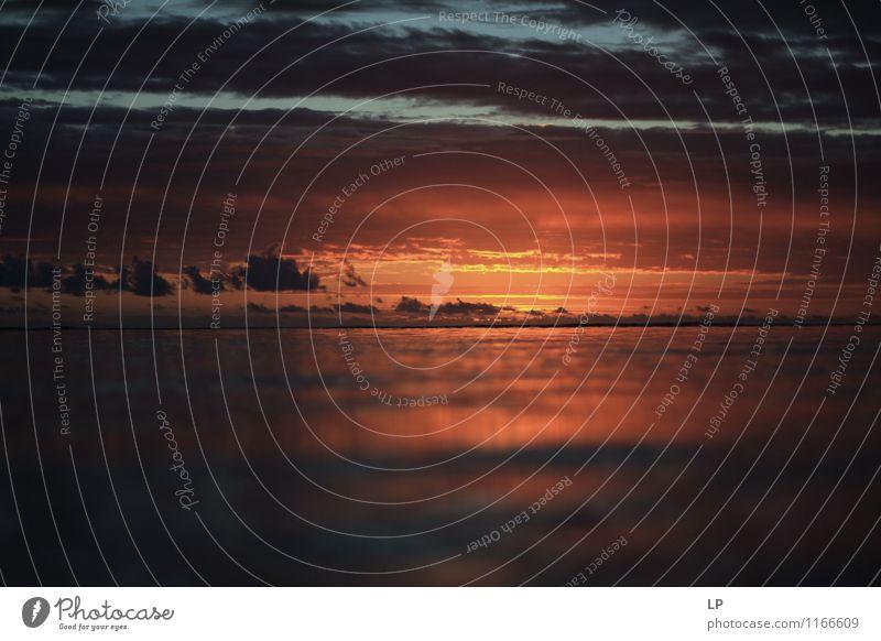 r4 Natur Landschaft Urelemente Luft Wasser Himmel Wolken Nachthimmel Horizont Sommer Klimawandel Wetter Meer Indischer Ozean leuchten träumen Traurigkeit