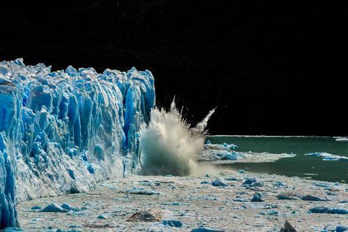 Das wachsen der Gletscher Ferien & Urlaub & Reisen alt blau Landschaft Winter Ferne Berge u. Gebirge Schnee Tourismus Freiheit See Ausflug Wetter Eis Abenteuer