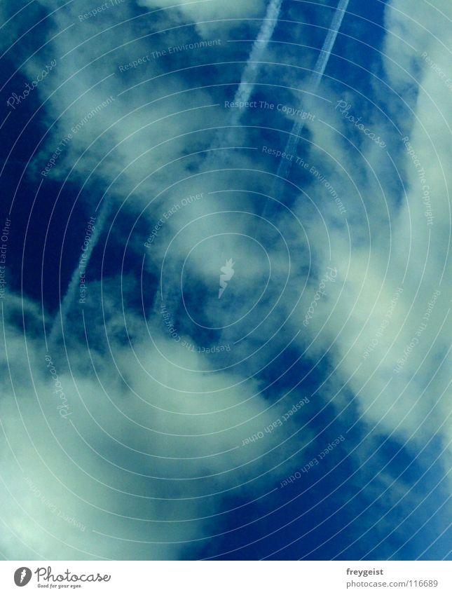 PC-Himmel weiß blau Sommer Wolken Wetter Streifen
