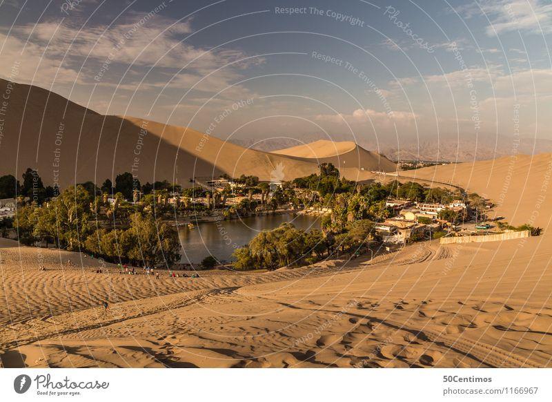 Take a time out in the oase Huacachina in Peru Himmel Ferien & Urlaub & Reisen Sommer Wasser Landschaft Sonne Wolken Ferne Wärme Tourismus Freiheit See Sand