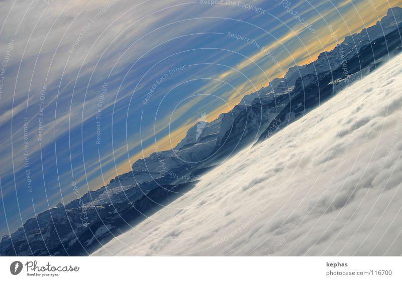 *seufz* blau Winter Wolken kalt Schnee Berge u. Gebirge Nebel verrückt Aussicht Schweiz Alpen Sehnsucht Fernweh Tal bezaubernd Nebelmeer