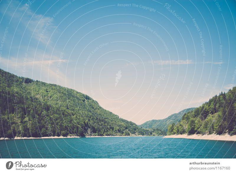 Wiestal Stausee Salzburg Himmel Natur Ferien & Urlaub & Reisen Sommer Wasser Sonne Erholung Landschaft ruhig Wald Umwelt Frühling See Tourismus Wetter Ausflug