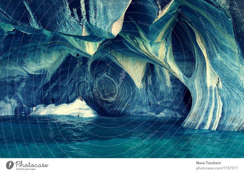 Blaues Patagonien Ferien & Urlaub & Reisen Tourismus Abenteuer Ferne Umwelt Natur Landschaft Urelemente Wasser Klima Berge u. Gebirge Gletscher Schlucht Küste