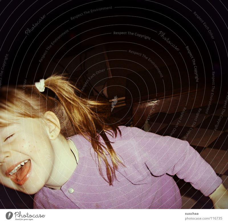 püppi findets lustich ... Kind Freude Gesicht Spielen lachen Haare & Frisuren lustig Kleinkind singen laut Unsinn Zopf Pippi Langstrumpf Haargummi