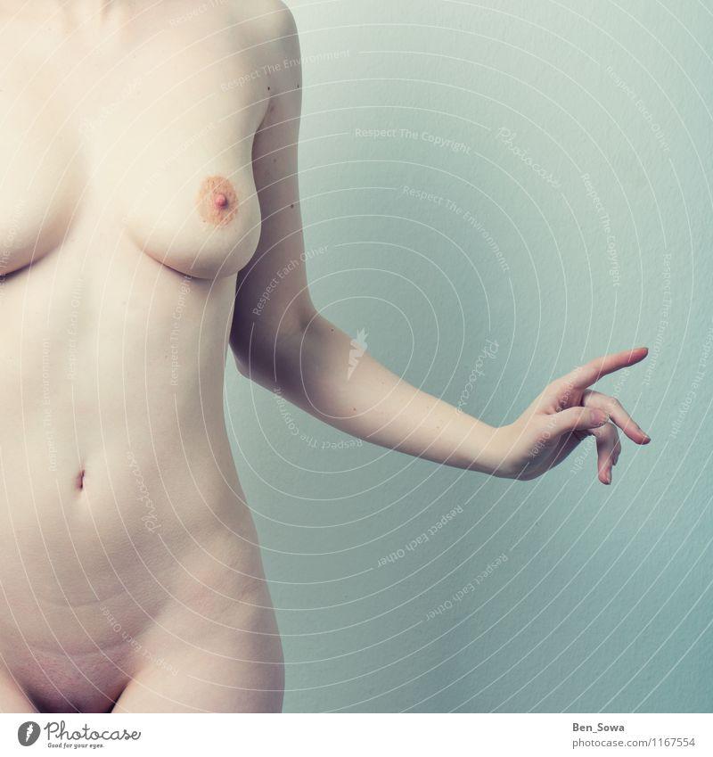 Schöne nackte Frau schön Körperpflege Haut Gesundheit harmonisch Wohlgefühl Spa Massage Fitness Sport-Training feminin Junge Frau Jugendliche Erwachsene Brust