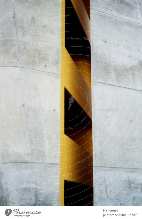 ? gelb grau Stein Linie Kunst Beton Turm Symmetrie Nebra
